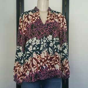 RACHEL RACHEL ROY FLORAL LONG SLEEVE TOP MEDIUM
